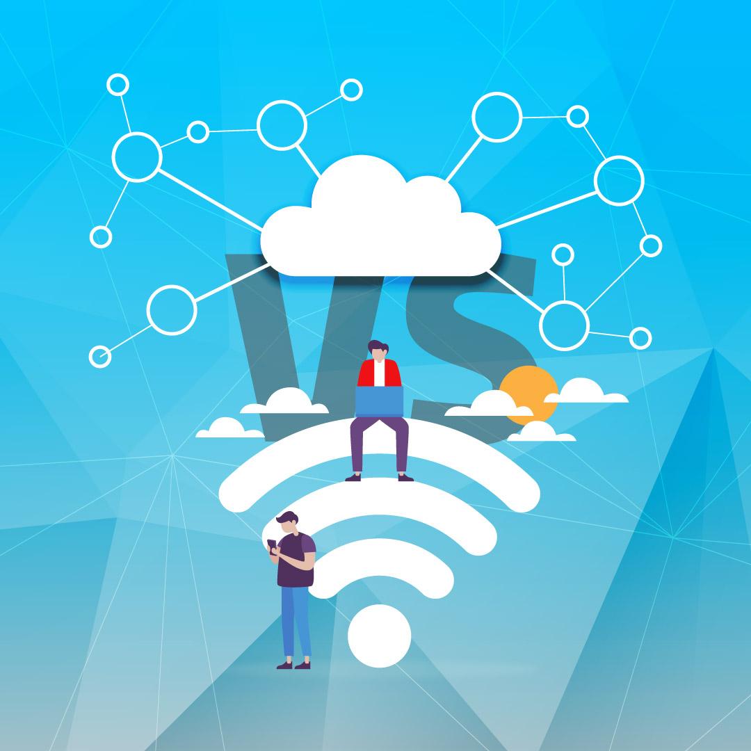 تفاوت شبکه وایرلس با شبکه وای فای-صبانت